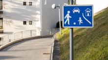 Verkehrsschild: verkehrsberuhigter Bereich / Spielstraße, Wohnstraße