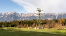 Liftstütze alte Patscherkofelbahn / Olympiagolf Igls, Innsbruck, Tirol, Austria