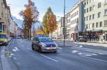 Polizei, Polizeiauto / Innsbruck, Tirol, Austria