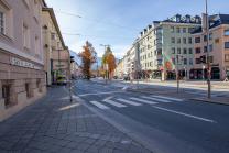 Innrain, Höhe Marktplatz, Innsbruck, Tirol, Austria