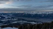 Blick von der Bergstation Patscherkofelbahn, Patscherkofel, Innsbruck, Tirol, Austria