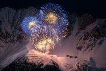 Silvester-Feuerwerk 2020/2021 auf der Seegrube, Nordkette, Innsbruck