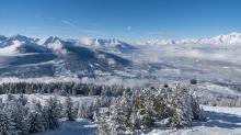 Blick vom Patscherkofel in das Inntal, Tirol, Austria