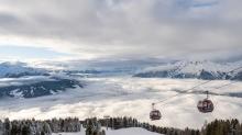 Nebeldecke über dem Inntal, Tirol, Austria