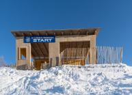 Filmkulisse Starthaus für den Kinofilm: Klammer / Patscherkofel, Tirol, Austria