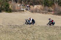 Radfahrer / Reintalersee, Reintaler See, Kramsach, Tirol, Austria