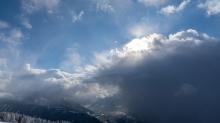 Wetterumschwung in den Bergen, Alpen