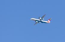 Austrian Airlines über Tirol, Österreich
