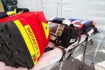 Notarztrucksack, Defibrillator / Österreichisches Rotes Kreuz
