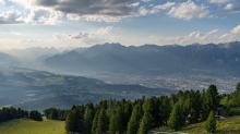 Blick vom Patscherkofel nach Innsbruck, Tirol, Österreich
