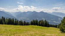 Skiabfahrt im Sommer / Patscherkofel, Tirol, Österreich