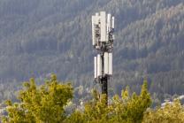 Mobilfunkmast in der Reichenau, Innsbruck, Tirol, Österreich