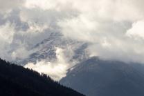 Wintereinbruch im Gebirge / Nockspitze oder Saile, Stubaier Alpen, Tirol, Österreich